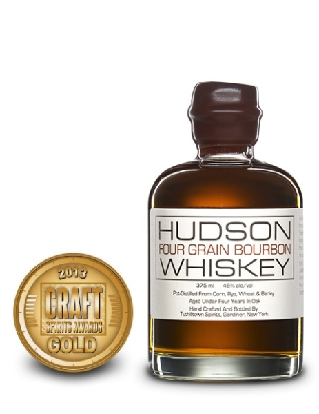 Hudson Four Grain Bourbon Whiskey, Tuthilltown Spirits $49